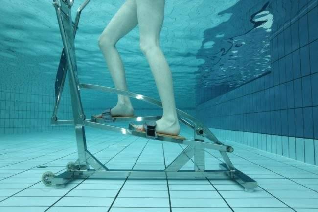 Эллиптический тренажёр для восстановления и реабилитации в воде