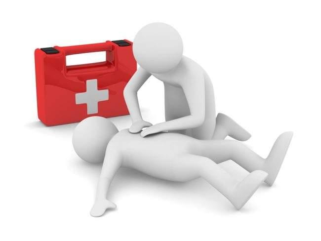 Первая помощь при травмах на тернировке