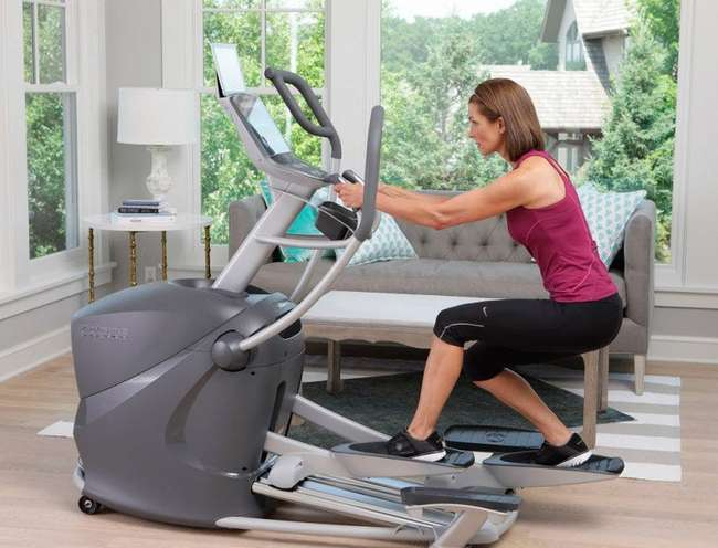 какие мышцы работают при занятиях на эллиптическом тренажёре при наклоне назад